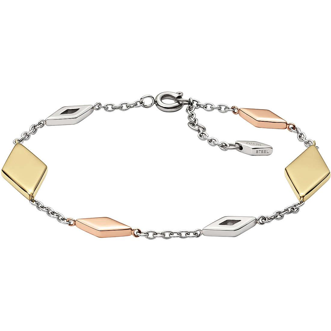 Bracciale Fossil JF02724998 donna acciaio Vintage Iconic