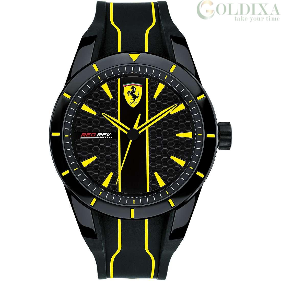 Watches Scuderia Ferrari Watch Only Time Man Analog Silicone Strap Redrev Collection Fer0830482