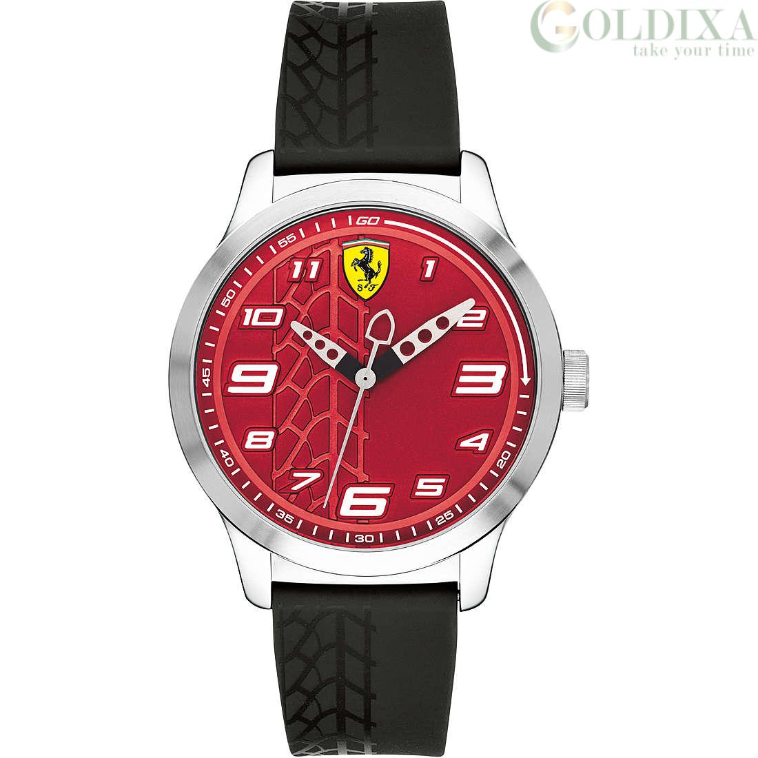 Watches Scuderia Ferrari Watch Only Time Analog Man Silicone Strap Pitlane Collection Fer0840021