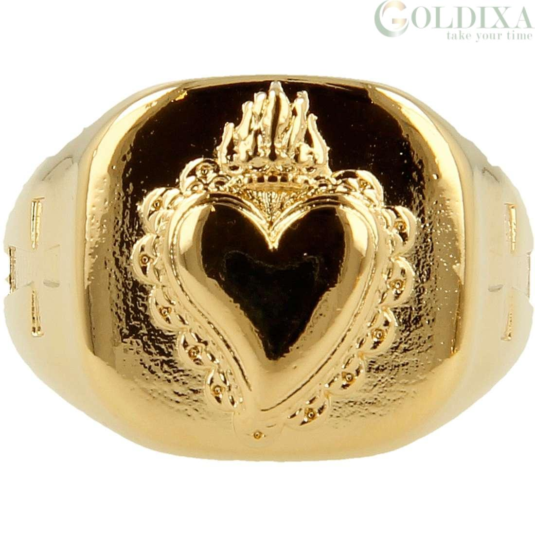 Anello pietro ferrante in ottone con sacro cuore