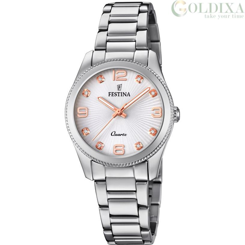 Watches Watch Festina Solo Tempo Woman Analog Steel Strap Model F20208 1 Boyfriend