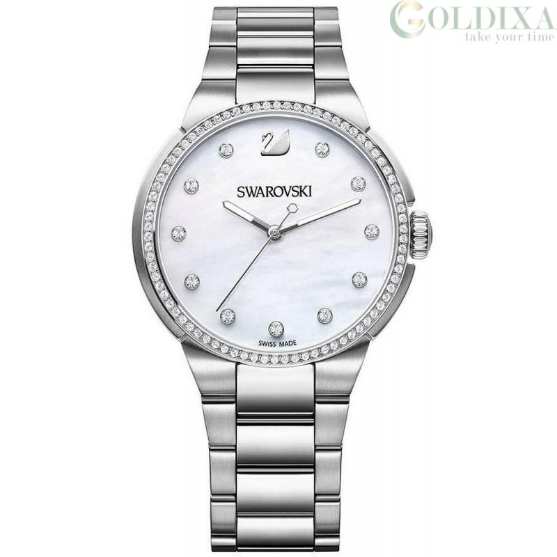 nuovo concetto 87ecf ab984 Watches: Swarovski watch steel only time analog steel bracelet ...