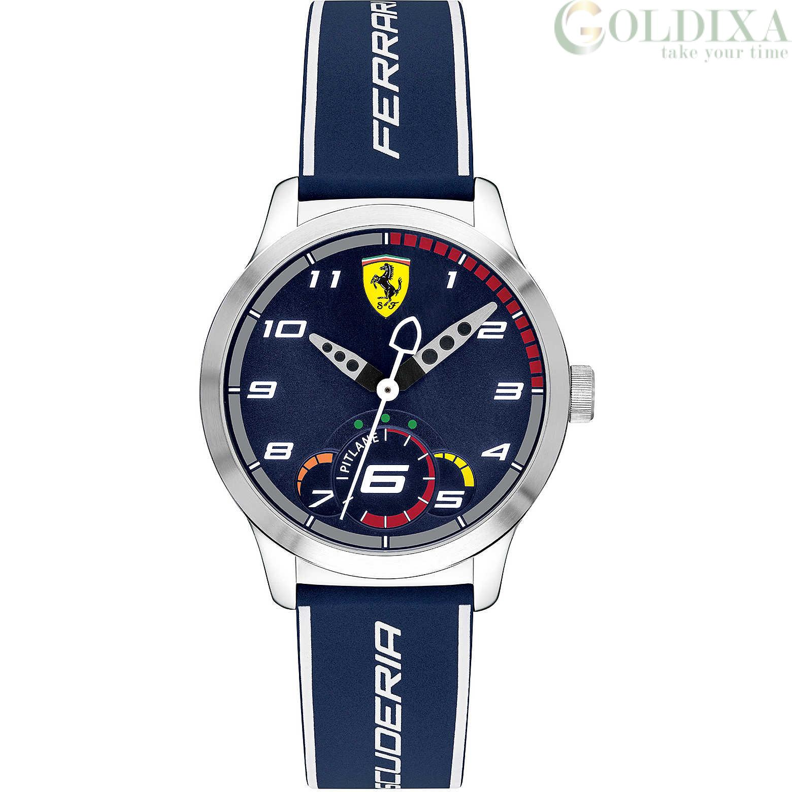 Watches Scuderia Ferrari Time Only Watch Fer0860005 Analogue Steel Pitlane