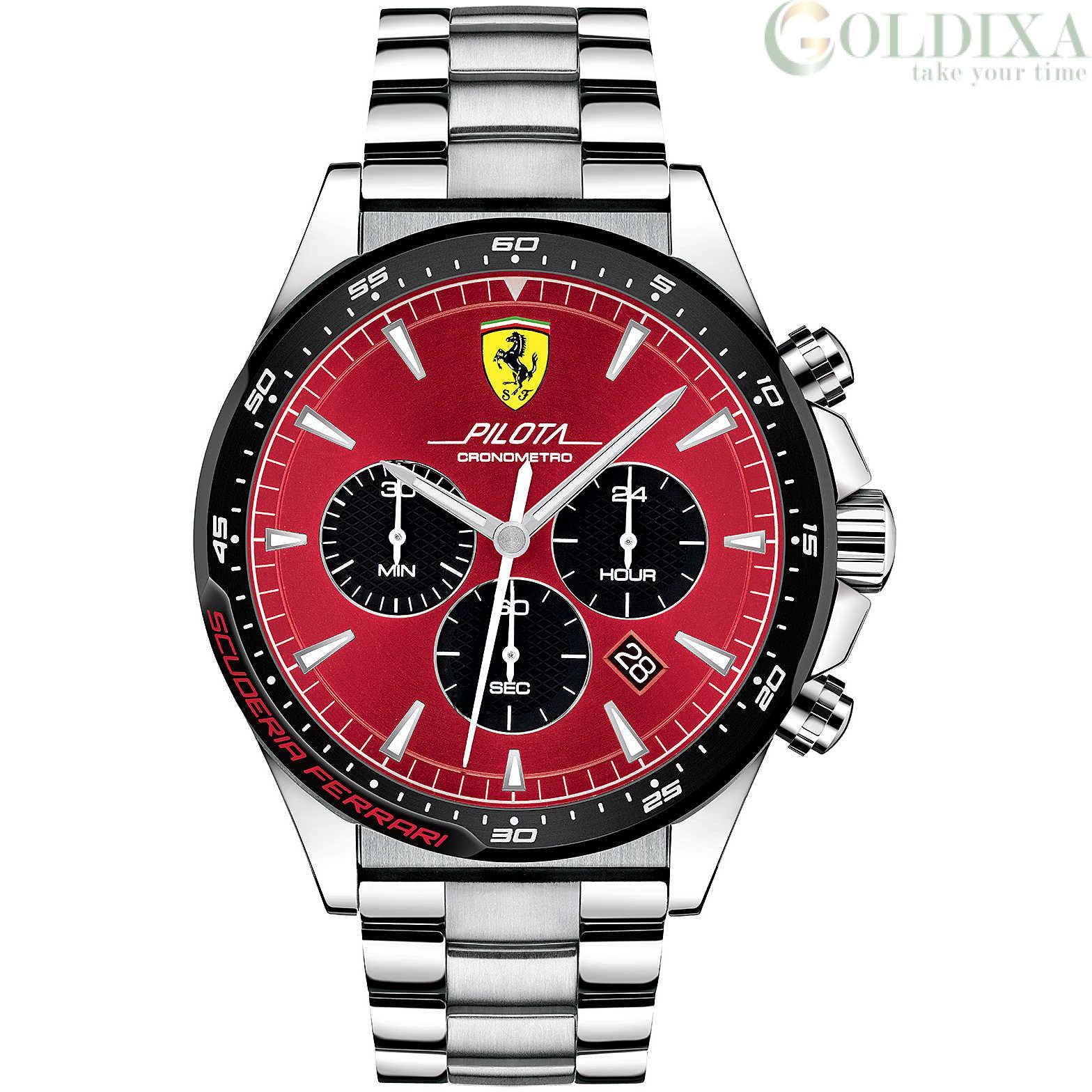 Watches Scuderia Ferrari Chronograph Watch Fer0830619 Pilot Analog Steel